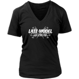 Late Model Racing V-Neck T-Shirt - Turn Left T-Shirts Racewear