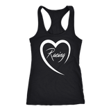 Racing Is Love Tank Top - Turn Left T-Shirts Racewear