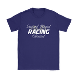 Stressed Blessed Racing Obsessed Classic Fit T-Shirt - Turn Left T-Shirts Racewear