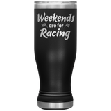 Weekends Are For Racing BOHO 20oz Tumbler - Turn Left T-Shirts Racewear