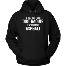 Funny Racing Hoodies, Dirt Track Racing - Turn Left T-Shirts Racewear