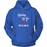 I'm A Racing A Wine Kinda Girl Hoodie Sweatshirt - Turn Left T-Shirts Racewear