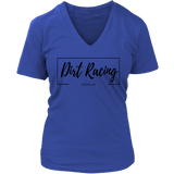 Dirt Racing V-Neck T-Shirt - Turn Left T-Shirts Racewear