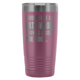 I Wonder If My Late Model Thinks About Me Too 20 Oz Travel Tumbler - Turn Left T-Shirts Racewear