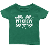 Pit Crew (WHT) Infant T-Shirt - Turn Left T-Shirts Racewear