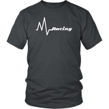 Racing Heart Beat T-Shirt - Turn Left T-Shirts Racewear