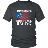 Minnesota Dirt Track Racing USA T-Shirt - Turn Left T-Shirts Racewear