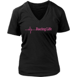 Racing Life Life Line V-Neck T-Shirt - Turn Left T-Shirts Racewear