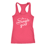 I'm A Simple Girl Tank Top - Turn Left T-Shirts Racewear