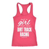 Just A Girl That Love Dirt Track Racing Tank Top - Turn Left T-Shirts Racewear