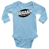 BRAAAP Long Sleeve Infant Onesie - Turn Left T-Shirts Racewear