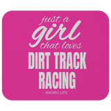 Mouse Pad Just A Girl That Loves Dirt Track Racing - Turn Left T-Shirts Racewear