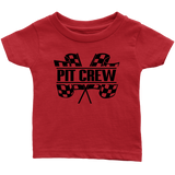 Pit Crew (BLK) Infant T-Shirt - Turn Left T-Shirts Racewear