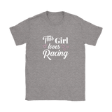 This Girl Loves Racing Classic Fit - Turn Left T-Shirts Racewear