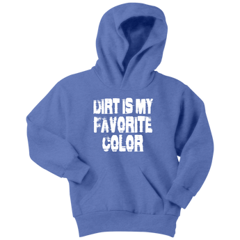 Dirt Is My Favorite Color Youth Hoodie - Turn Left T-Shirts Racewear