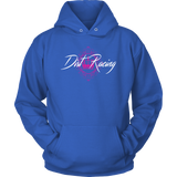 Dirt Racing Queen White Text Hooded Sweatshirt - Turn Left T-Shirts Racewear