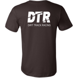 DTR Dirt Track Racing Turn Left Racewear Men's T-Shirt - Turn Left T-Shirts Racewear