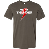 Feel The Thunder Men's Dirt Track Racing T-Shirt - Turn Left T-Shirts Racewear