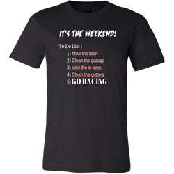 Funny Racing Shirt - It's The Weekend Men T Shirt - Turn Left T-Shirts Racewear