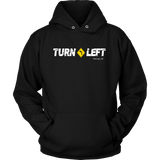 Turn Left LOGO UNISEX Hooded Sweatshirt - Turn Left T-Shirts Racewear