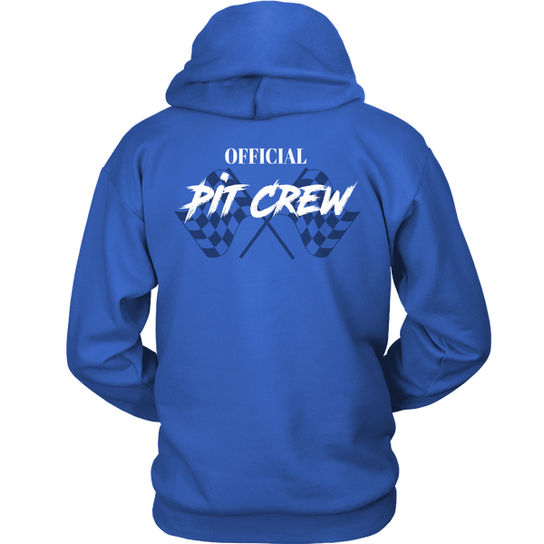 Racing Pit Crew Shirts, Racing Hooded Sweatshirt Checker Flag Racing Dirt Racing Sweatshirt