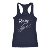 Racing Girl Racerback Women's Tank Top - Turn Left T-Shirts Racewear