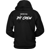 Official Pit Crew Hooded Sweatshirt (Front & Back Printed) - Turn Left T-Shirts Racewear