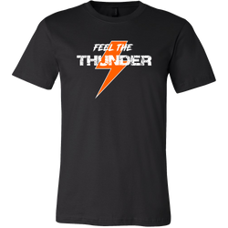 Feel The Thunder Orange Race T-Shirt - Turn Left T-Shirts Racewear