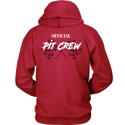 Pit Crew Racing Hooded Sweatshirt Checker Flag Racing Dirt Racing Sweatshirt
