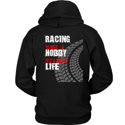 Racing It's NOT A Hobby Men's Hooded Sweatshirt  FRONT & BACK