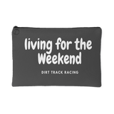 Living For The Weekend Cosmetic Bag /Pouch - Turn Left T-Shirts Racewear