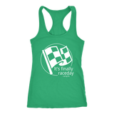 It's Finally Raceday Racing Life Collection Tank Top - Turn Left T-Shirts Racewear