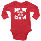 New To The Crew Long Sleeve Onesie - Turn Left T-Shirts Racewear