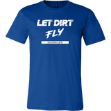 Let Dirt Fly Racing Life Mens T-Shirt - Turn Left T-Shirts Racewear