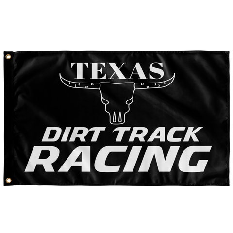 "Texas Dirt Track Racing 36""x60"" Wall Flag - Turn Left T-Shirts Racewear"