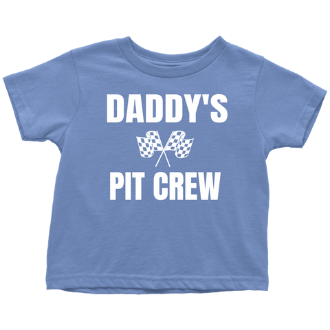 Daddy's Pit Crew Toddler T-Shirt - Turn Left T-Shirts Racewear