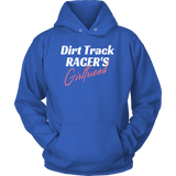 Dirt Track Racer's Girlfriend Hooded Sweatshirt - Turn Left T-Shirts Racewear