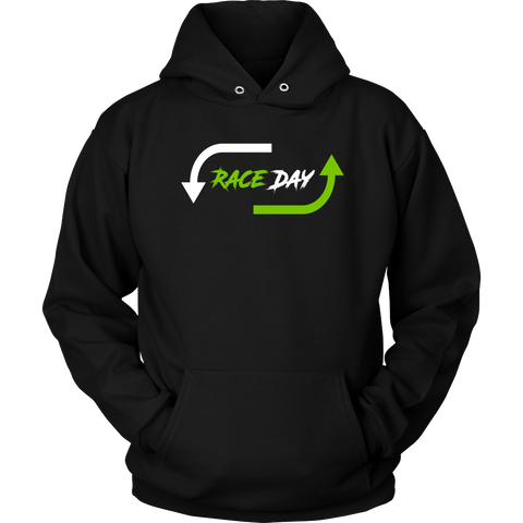Race Day Hooded Sweatshirt - Turn Left T-Shirts Racewear
