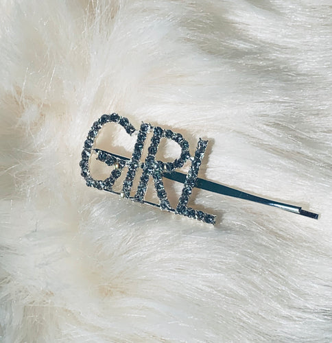GIRL blinged out hair pin