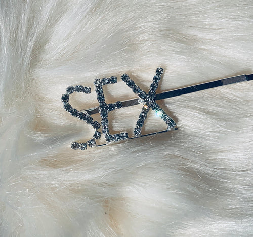 SEX blinged out hair pin