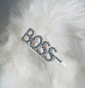 BOSS blinged out hair pin