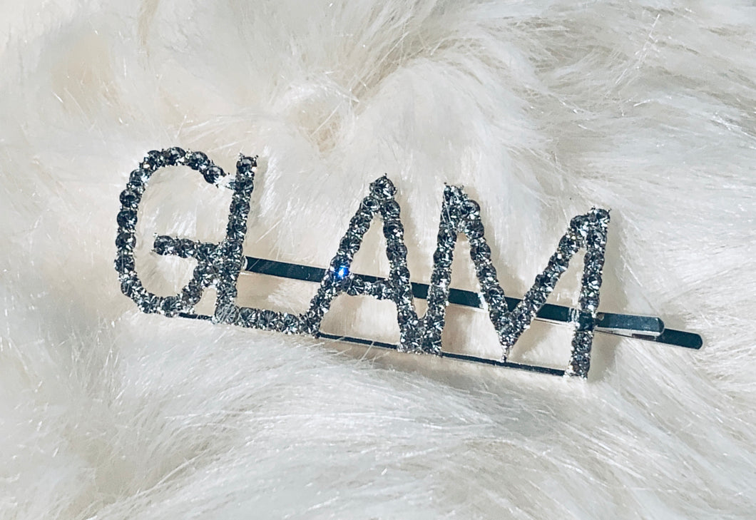 GLAM blinged out hair pin