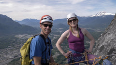 Multi pitch rock climbing on the Stawamus Chief in Squamish