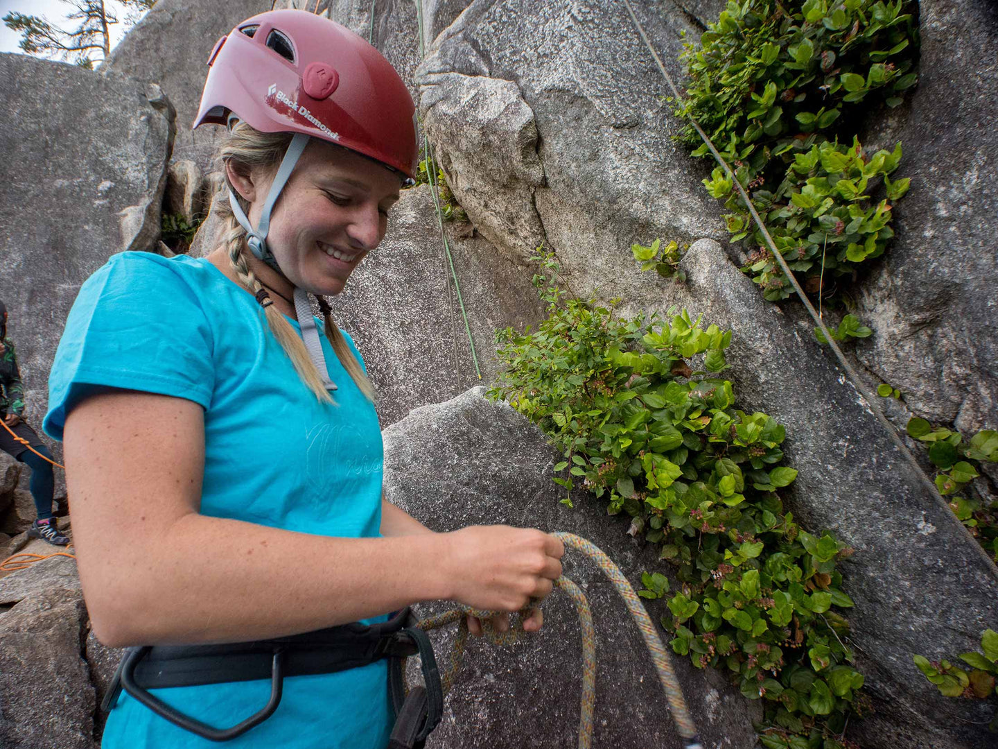 Women learning to Lead Climb in Squamish