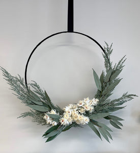 Decorative Foliage Christmas Wreath - 65cm Diameter