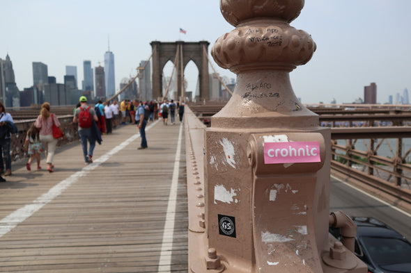 Brooklyn Bridge NYC Crohnic Sticker