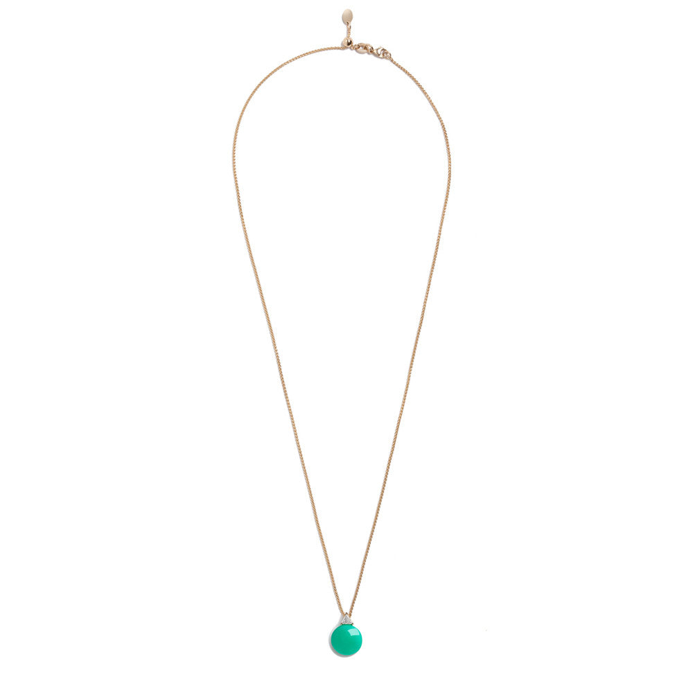 Selin Kent 14K Ada Chrysoprase Necklace with Trillion White Diamond