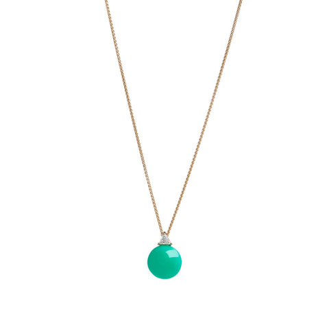 Rhea Necklace | White Diamond & Emerald