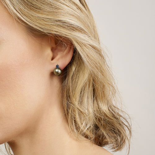 Ada Earrings | Tahitian Pearl