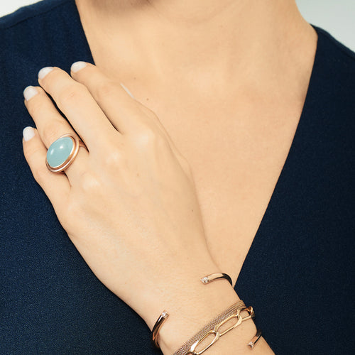 Selin Kent 14K Ada Ring Aquamarine - On Model